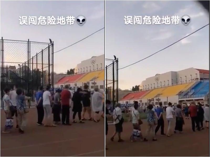 凡是到過北京新發地市民都被要求做核酸檢測、抗體檢測。圖為市民排隊做檢測。(視頻截圖)