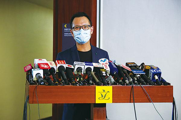 郭榮鏗指「港版國安法」最主要的目的就是「把恐懼注入每一個香港人的心入面」和「黑箱作業」,並重申反對「港版國安法」立法。(公民黨提供)