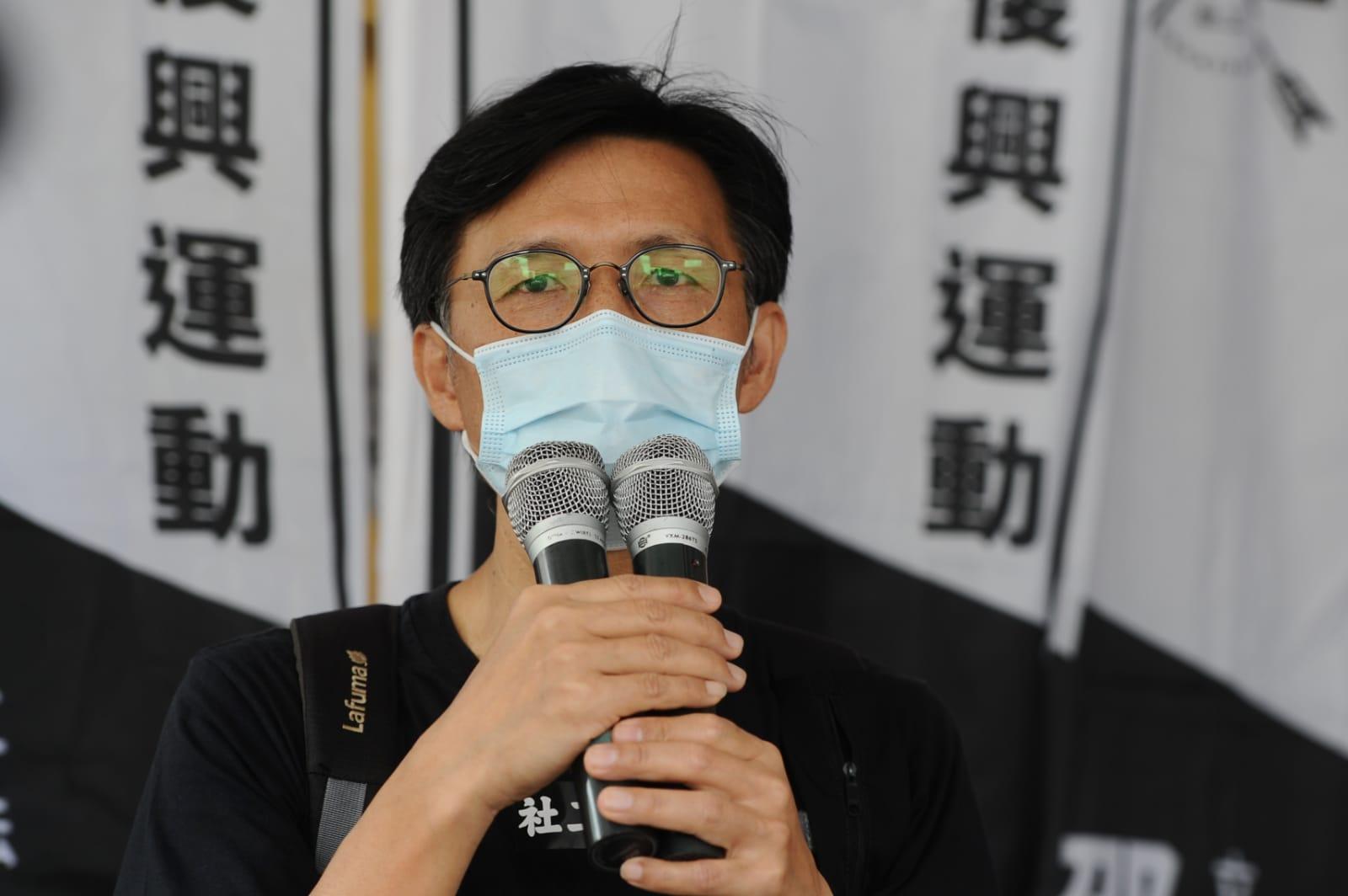 香港社會工作者總工會外務副主席張志偉。(宋碧龍/大紀元)