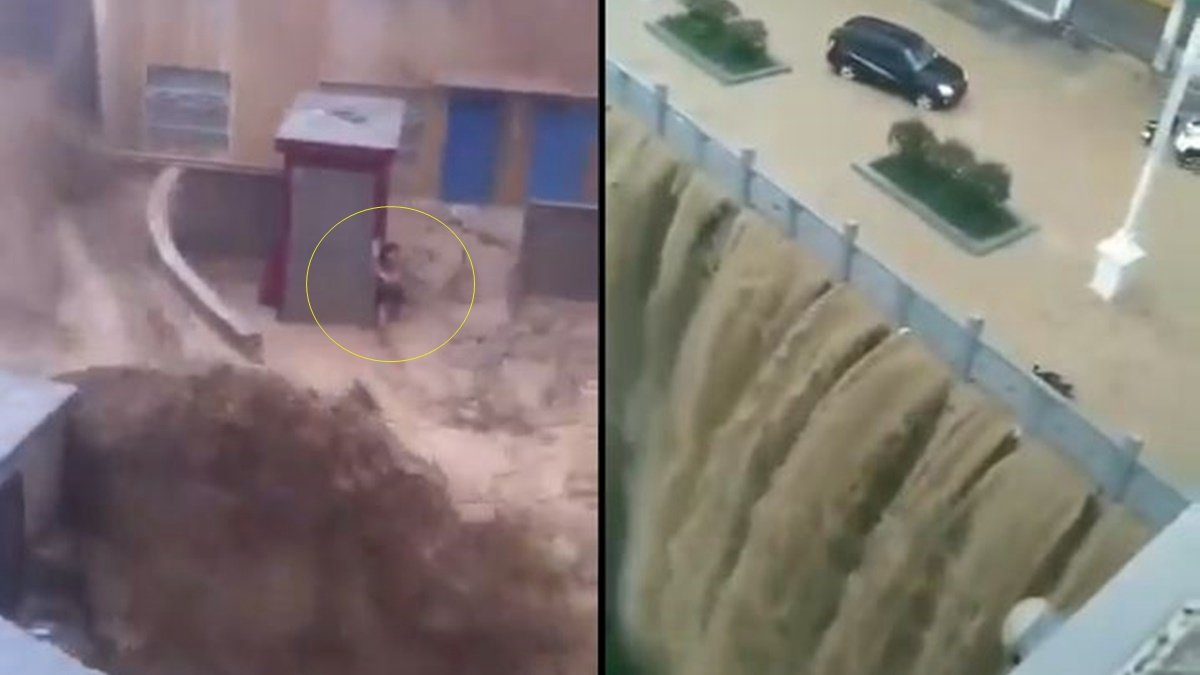 中國南方遭遇洪災,三峽上游各支流全線拉警報。(影片截圖)