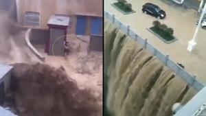 三峽大壩上游全線報警 鐵路沖跨、車房全被淹(多影片)