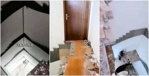 「中國製造」驚魂:五樓住戶清早出門發現樓梯不見了