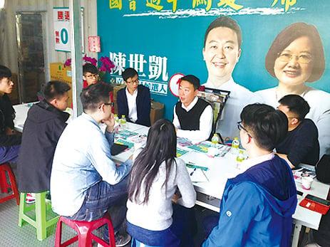 港雨傘革命青年赴台觀選