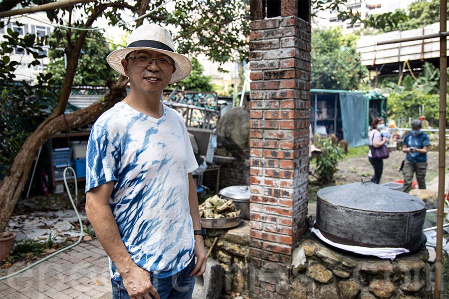黃廣長寄語:「我們想給大家知道薄扶林村不只是我們的地方,薄扶林村是屬於整個香港的!」(陳仲明/大紀元)