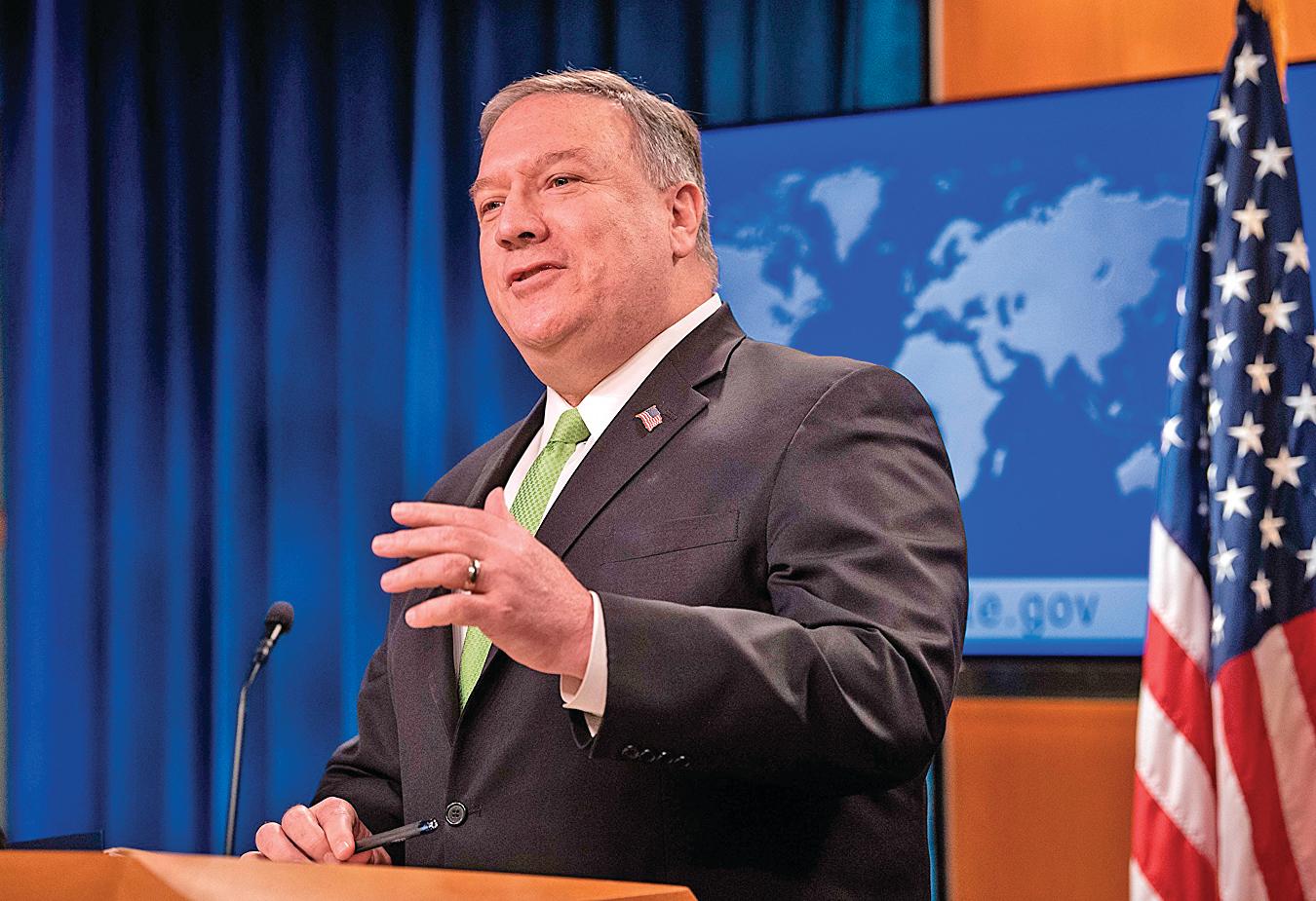 美國國務卿蓬佩奧(Mike Pempeo)表示,美方在剛結束的中美外交官員會晤上一直在強調,「聽中國共產黨說是不夠的。我們要看到他們的行動。」(AFP)