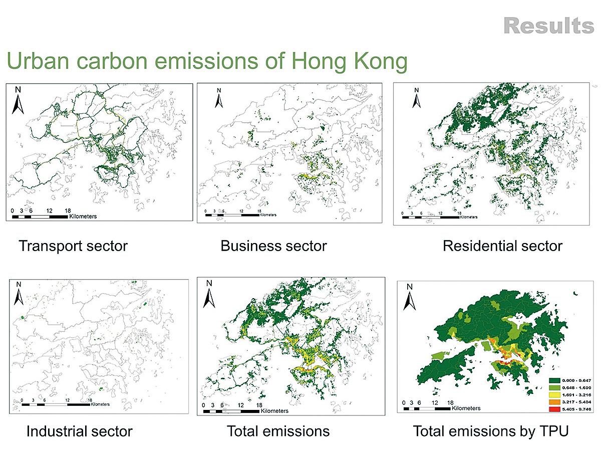 中大建築學院博士研究生蔡萌開發了一種混合方法,利用開放的城市數據,模擬高分辨率城市碳排放清單。