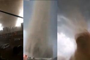 【現場片段】「老天怒了」 內蒙現巨型龍捲風