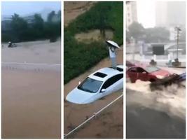 【前線採訪】市民:三峽大壩洩洪放水 宜昌被淹沒
