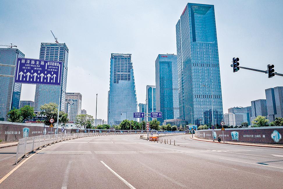6月19日北京街頭空無一人。(Getty Images)