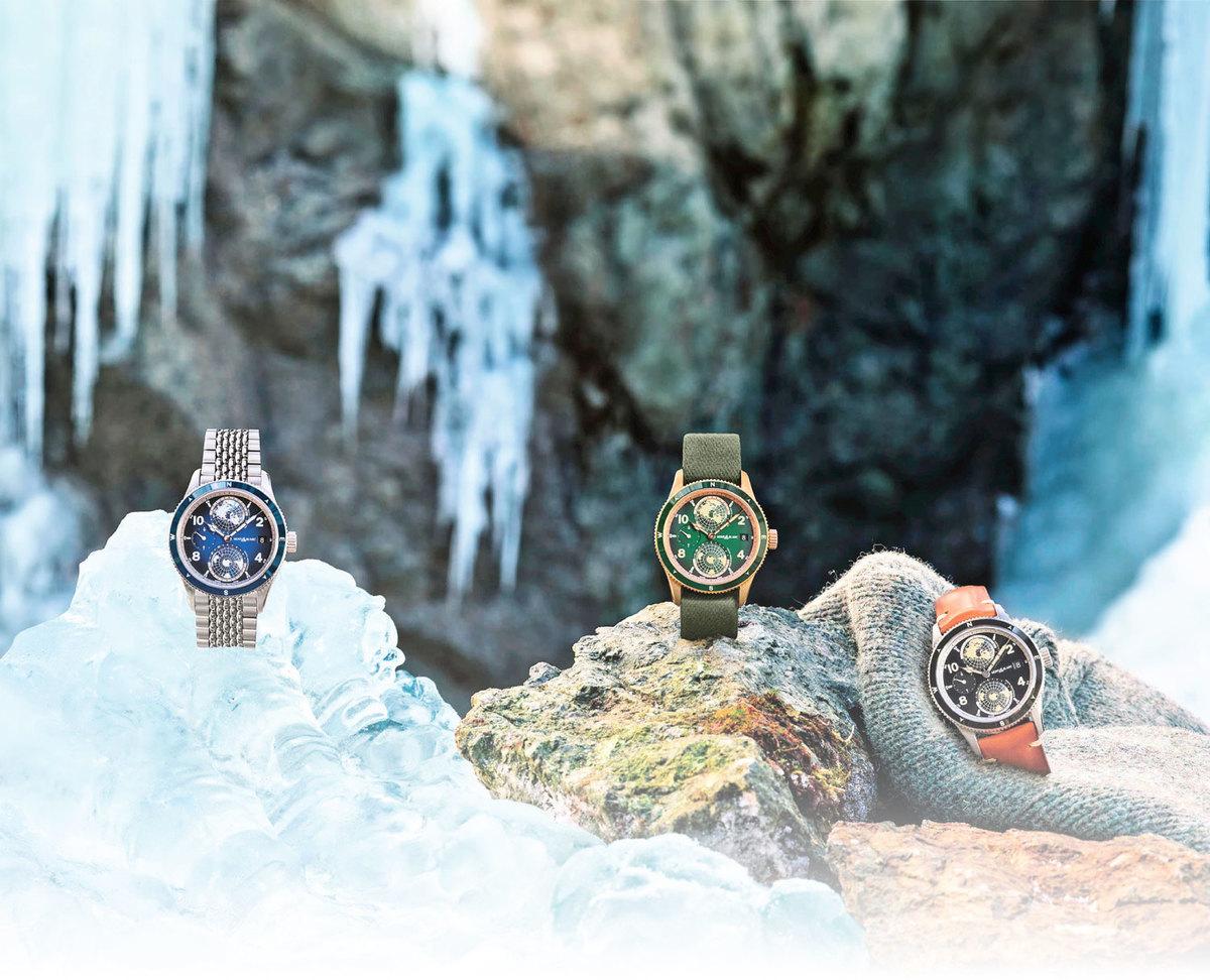 萬寶龍1858系列運動復古錶款,向世界七大高峰致意。(圖|品牌提供)