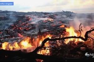 危險而迷人 夏威夷火山滾滾熔岩吞噬森林