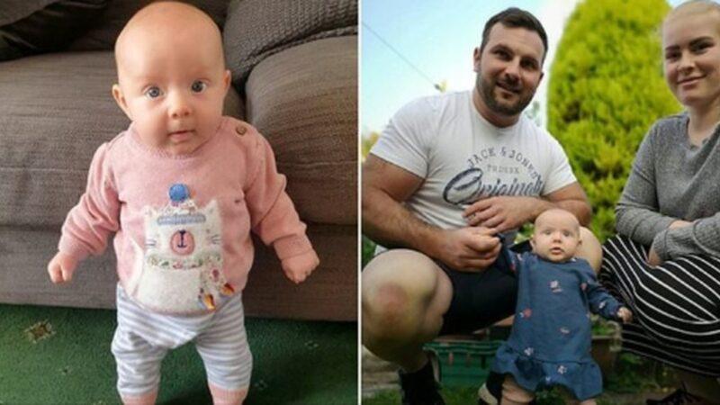 地表最強寶寶? 英國女嬰2個月大會站立