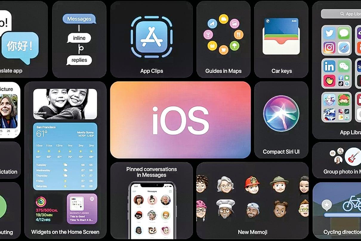 在WWDC 2020上,蘋果發佈了新的iOS 14,加入了一系列新的設計與功能。(蘋果官方視頻截圖)