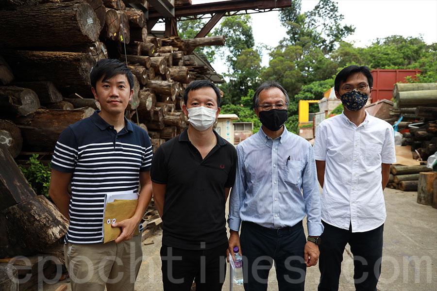 (左至右)立法會議員鄭松泰、陳志全、張超雄、朱凱廸。(陳仲明/大紀元)