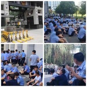 7月初,有大陸網民披露,陝西省公安廳門口,中共警察們集體維權,不過網上罵聲一片,支持的很少,甚麼狀況導致支持聲甚少呢?該網民解釋說,「該理解子彈要抬高一厘米的原因了吧?」