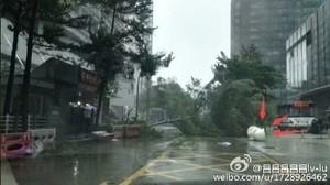 颱風「妮妲」登陸廣東 廣州一片灰濛濛