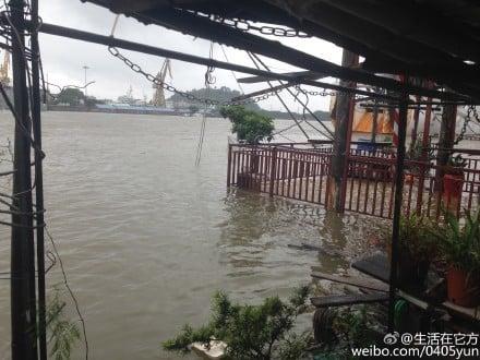 廣州珠江內河水猛增。(網絡圖片)
