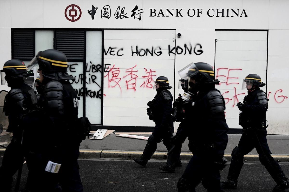 中國四大銀行或將因美國《香港自治法》受制裁(示意圖)。(GettyImages)