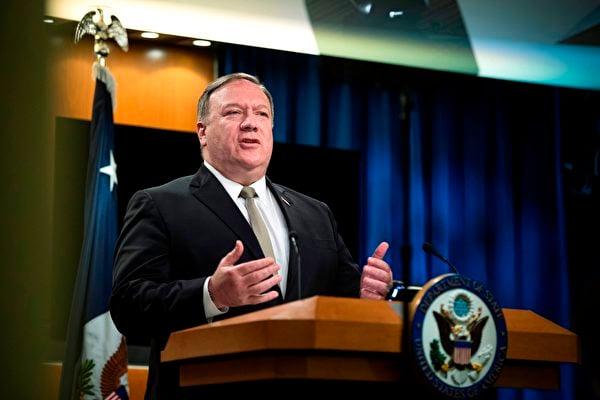 美國國務卿蓬佩奧表示,中共最怕人民的自由意願和自主思考。(MANNY CENETA/POOL/AFP via Getty Images)