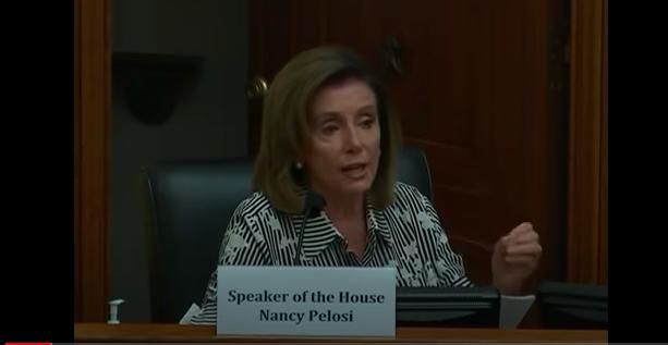 聯邦眾議院議長佩洛西( Nancy Pelosi)(國會影片截圖)