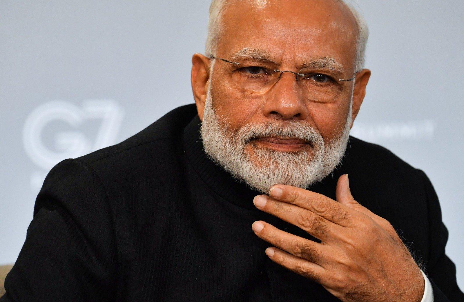 印度總理莫迪資料照。(NICHOLAS KAMM/AFP/Getty Images)