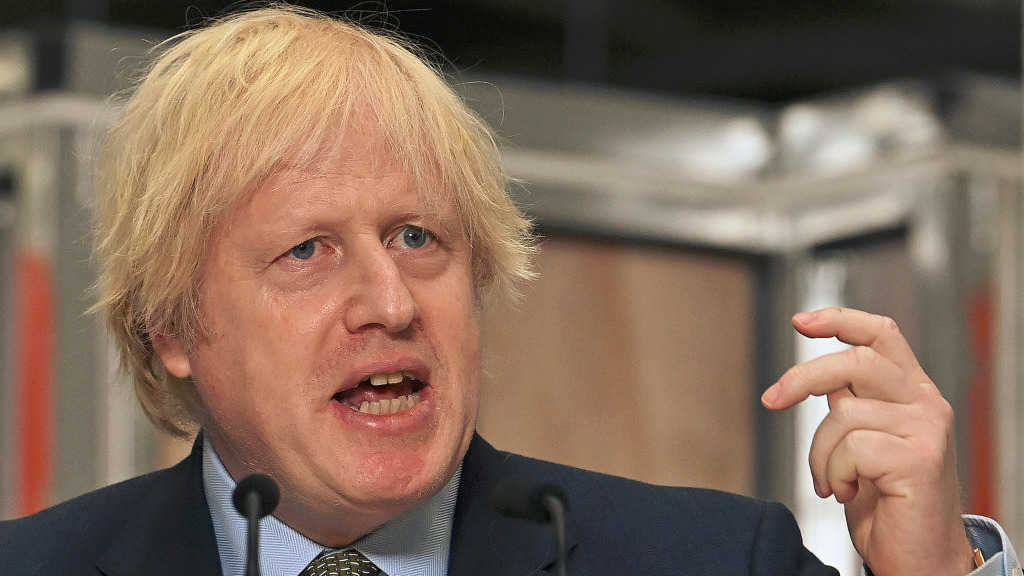 英國首相約翰遜(Boris Johnson)首次改口形容華為是「潛在敵對國家的供應商」。(Paul Ellis - WPA Pool/Getty Images)