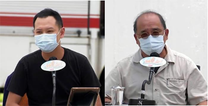 郭榮鏗(左圖)表示,國安法已達至「以言入罪」,港人已不再有言論自由。鍾劍華認為,過去一年香港出現的並非國安問題,而是「民心背向」。(影片截圖)