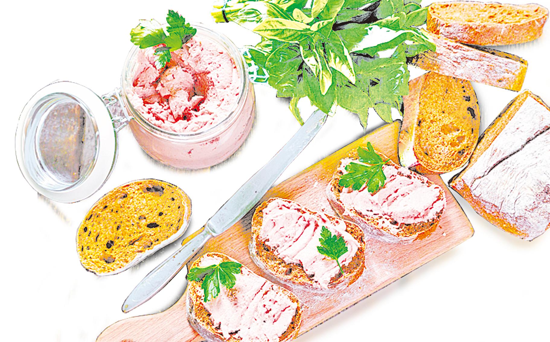 簡單將麵包切片後塗上抹醬,是非常簡便的吃法。