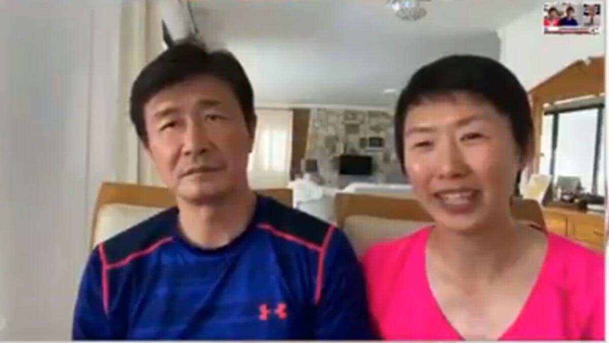 中國著名球星郝海東和妻子葉釗穎接受採訪時,講述他們曾事先已經寫好遺囑。(影片截圖)