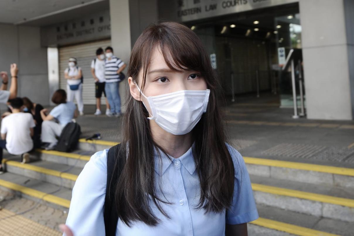 前香港眾志成員周庭承認煽惑及參與未經批准集結罪。(宋碧龍/大紀元)
