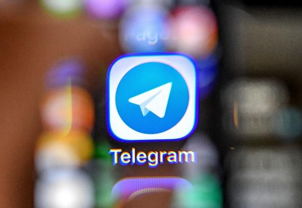 主打保護私隱的俄國通訊軟件Telegram,在反送中運動中被香港人廣泛使用。示意圖。(YURI KADOBNOV/AFP via Getty Images)