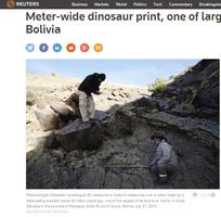 最大白堊紀恐龍?腳印寬約1.2米