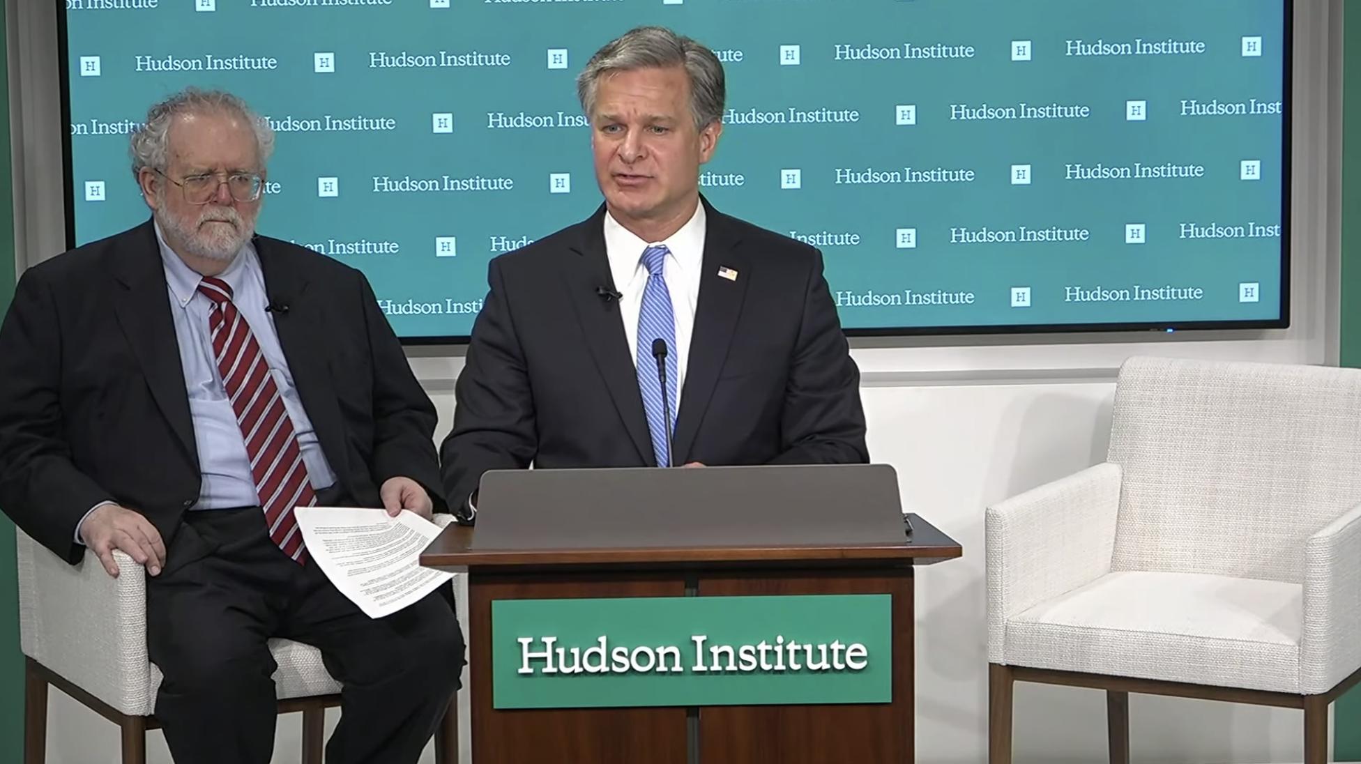 2020年7月7日,美國華盛頓智囊哈德遜研究所就中共試圖滲透影響美國舉辦討論會。(影片截圖)