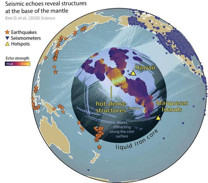 地核-地幔交界處發現  高密度高溫大型地質結構