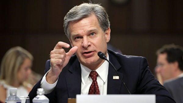 美國聯邦調查局(FBI)局長雷,出席國會聽證。 (Getty Images)