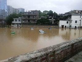 長江洪水倒灌鄱陽湖 江西變汪洋 贛江支流決堤