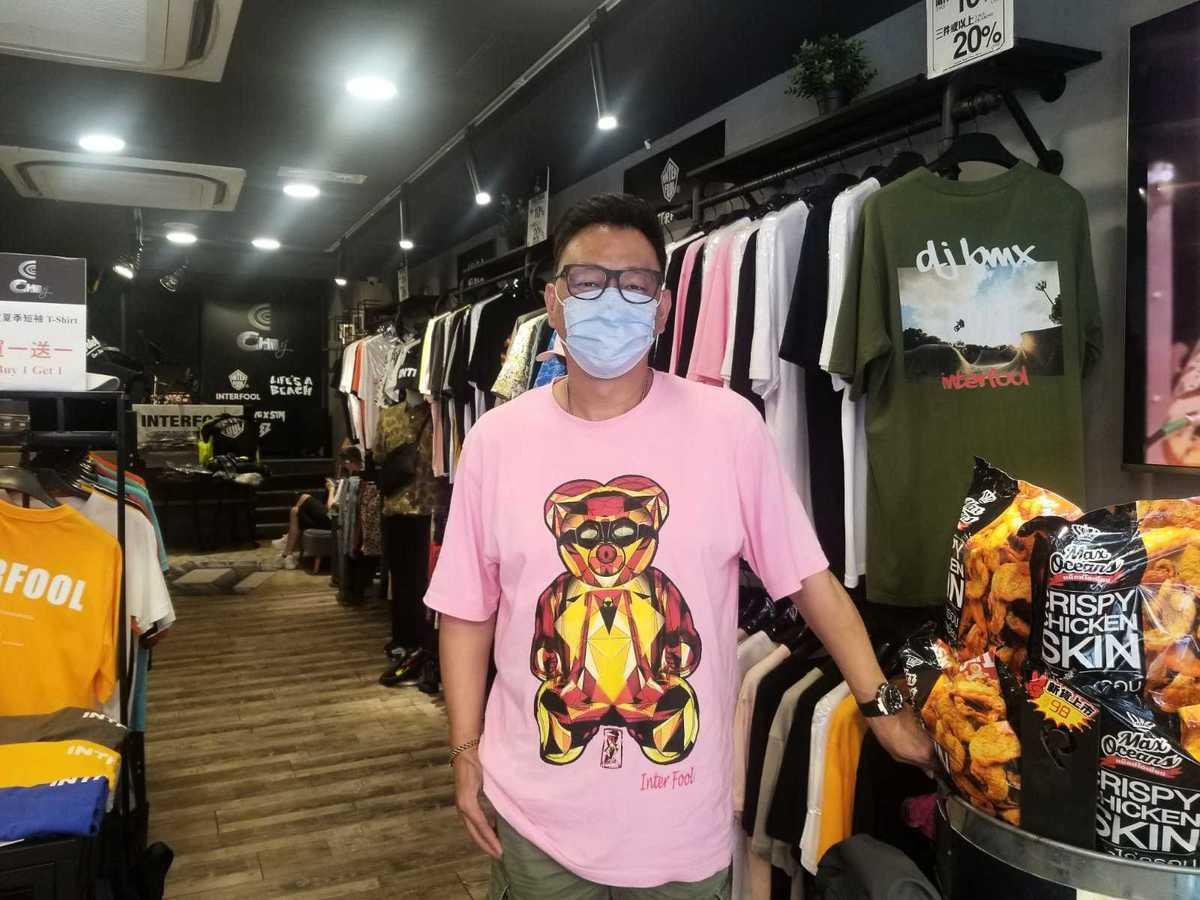 Chil服裝店老闆Jim。(李曉彤/大紀元)