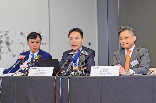 圖為德勤去年發佈2019年上半年大陸與香港IPO市場報告。(宋碧龍/大紀元)