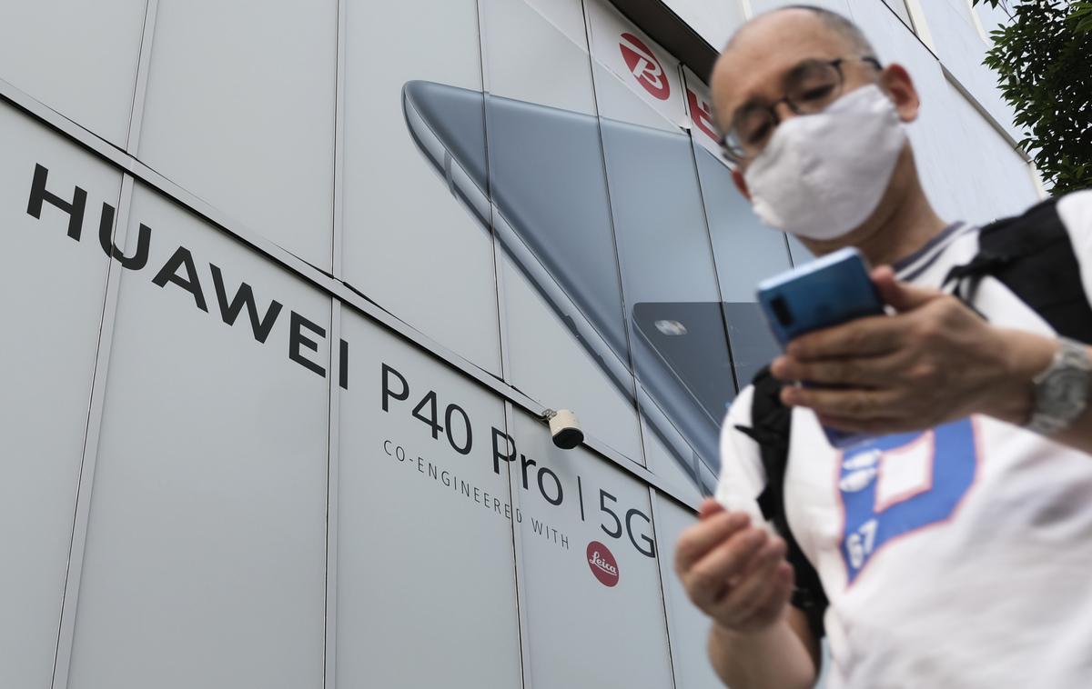英國將在6個月內禁用華為,示意圖。(KAZUHIRO NOGI/Getty Images)