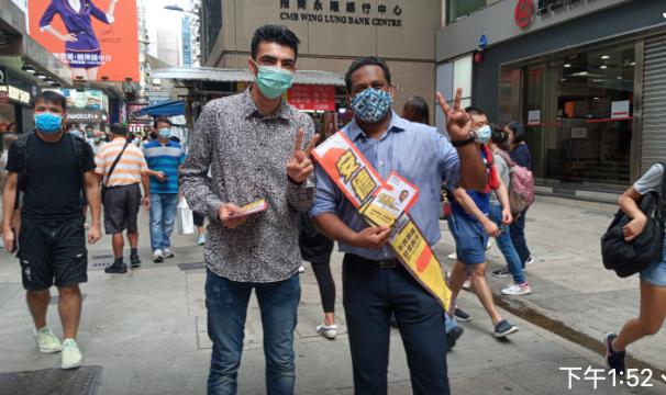 在香港土生土長的印度裔註冊社工安德里(Jeffrey Andrews),參加民主派九龍西初選。(梁珍 / 大紀元)