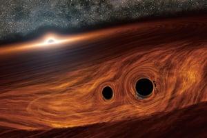 聞所未聞:兩黑洞撞出火花?