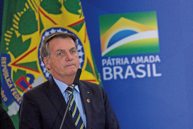 7月7日,現年65歲的巴西總統博爾索納羅(Jair Bolsonaro)宣佈感染中共病毒,11日,他的妻子和兩個女兒病毒測試呈陰性。 (AFP)