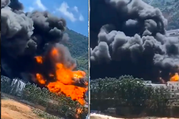 福建龍巖煉油廠起火 致二傷二失蹤