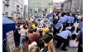 北京大興西紅門一村爆發警民衝突 村民高呼救命