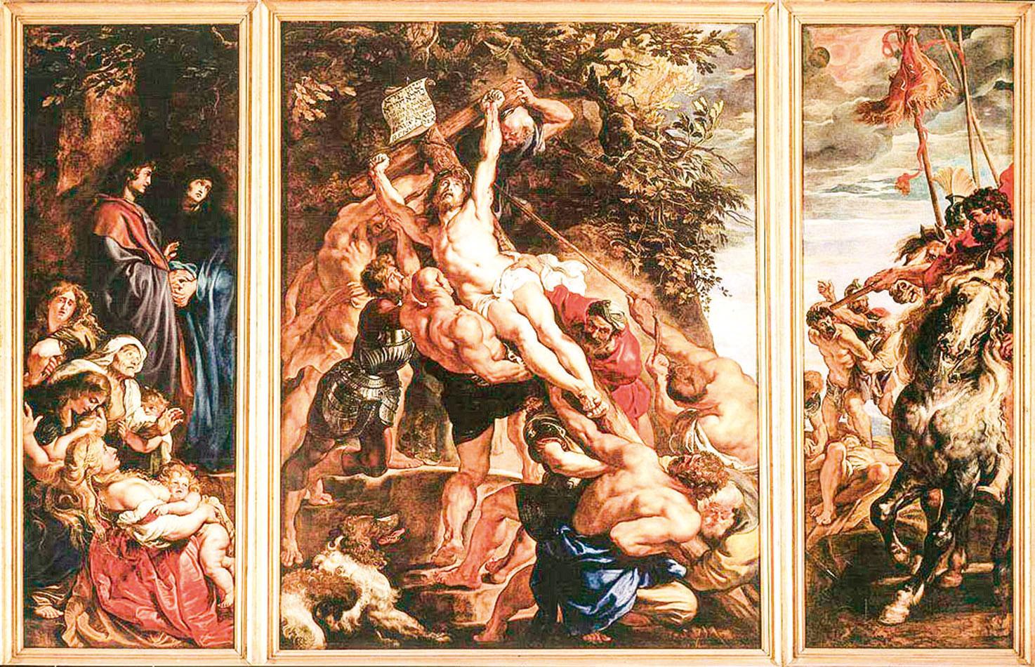 魯本斯 - 《十字架的崛起》The Raising of the Cross。(公有領域)