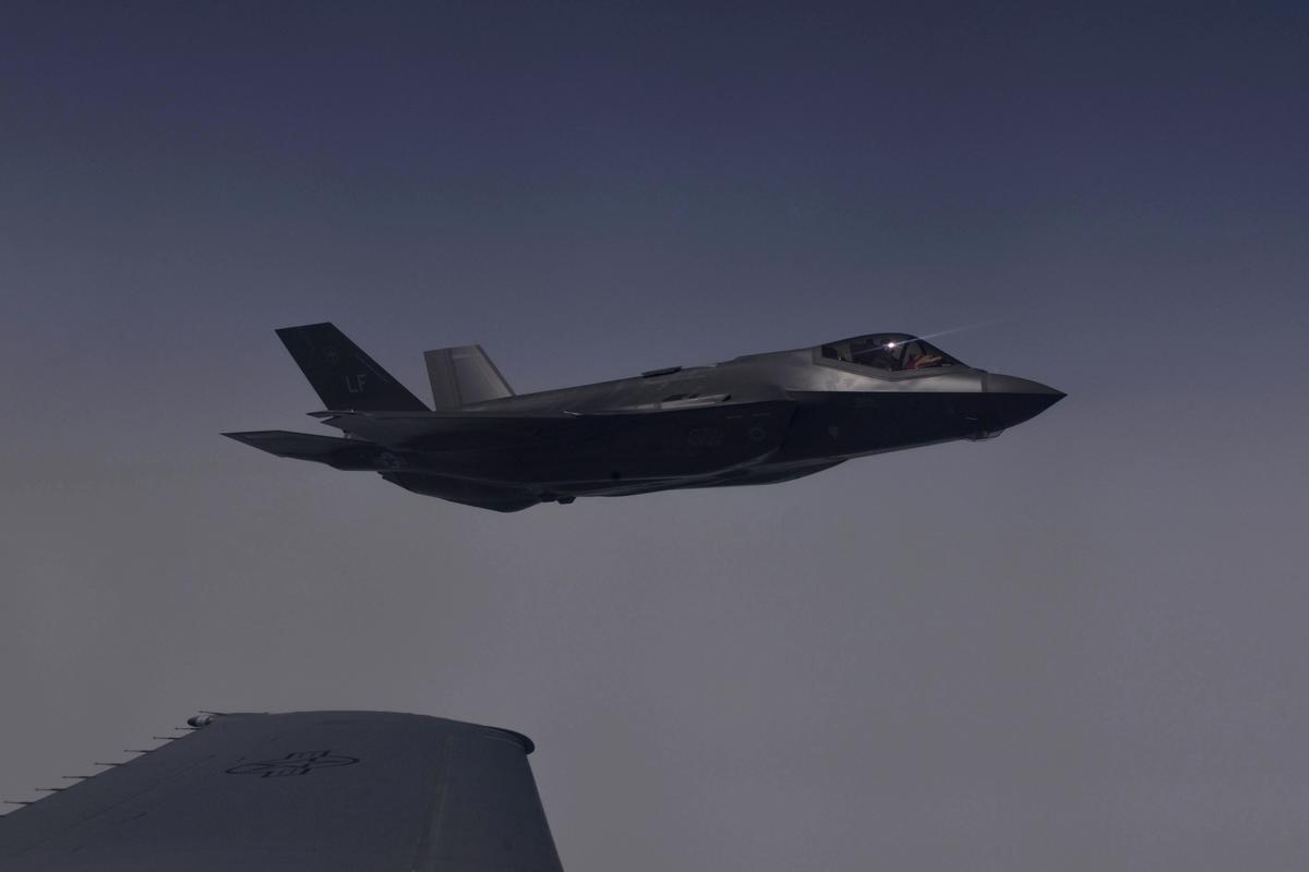 7月11日深夜,德黑蘭北部再一次被神秘轟炸;高層消息人士透露,軍方雷達根本找不到「敵機」F-35隱身戰機。(U.S. Air Force photo)