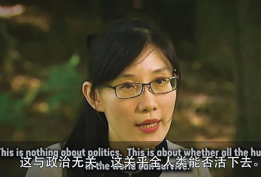 逃往美國的香 港病毒學家閻麗 夢表示:「這個 病毒是非常恐怖 的。」( 影片截 圖)