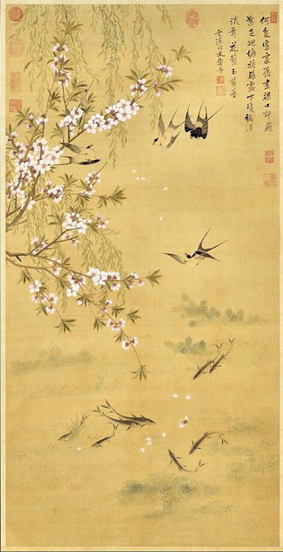 清‧惲壽平繪,《燕喜魚樂圖》(公有領域)