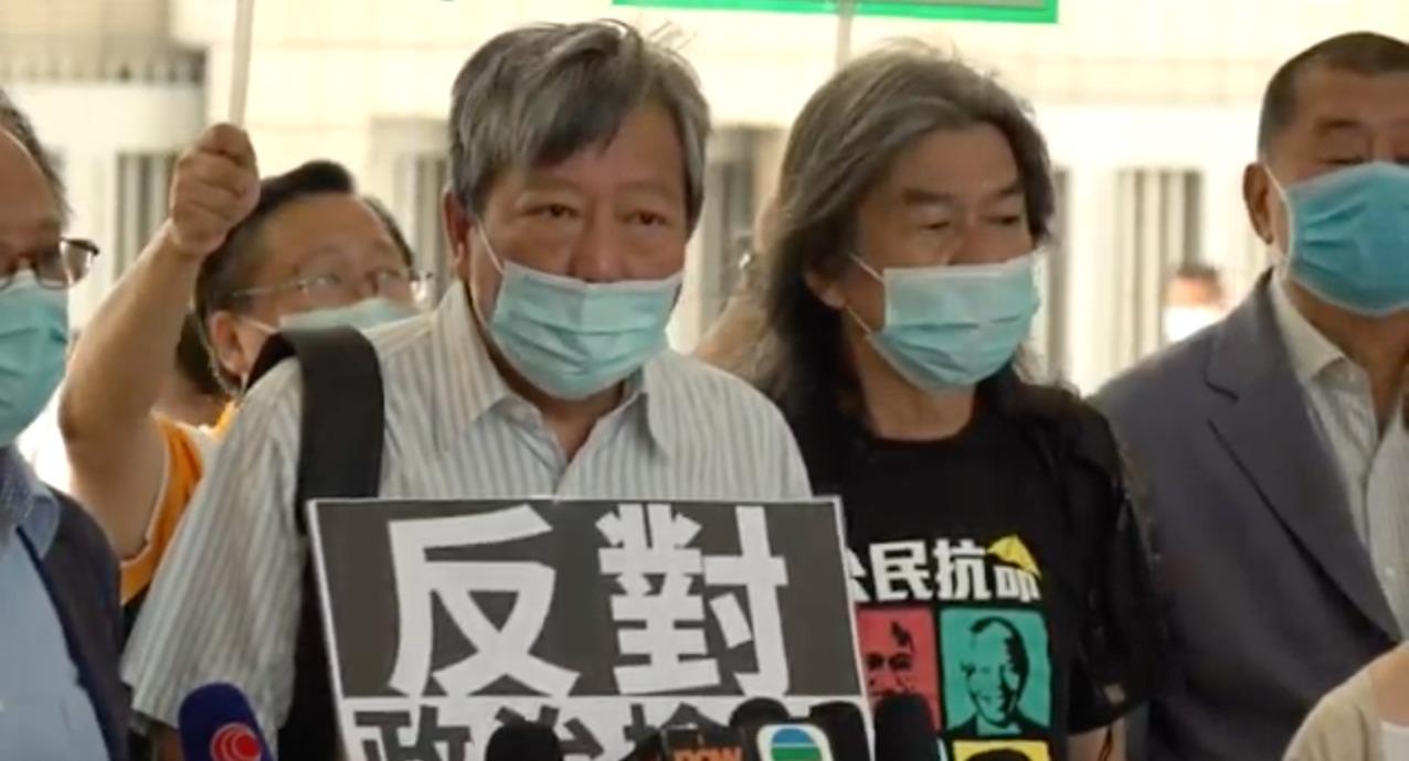 工會聯盟秘書長李卓人批評,案件是赤裸裸的政治檢控。(霄龍/大紀元)