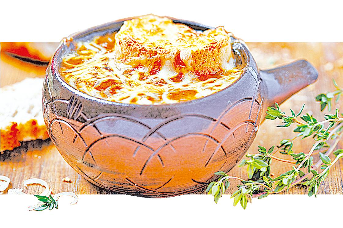 法式洋蔥湯是許多法國人在寒冬時節裏最愛的療癒食物。